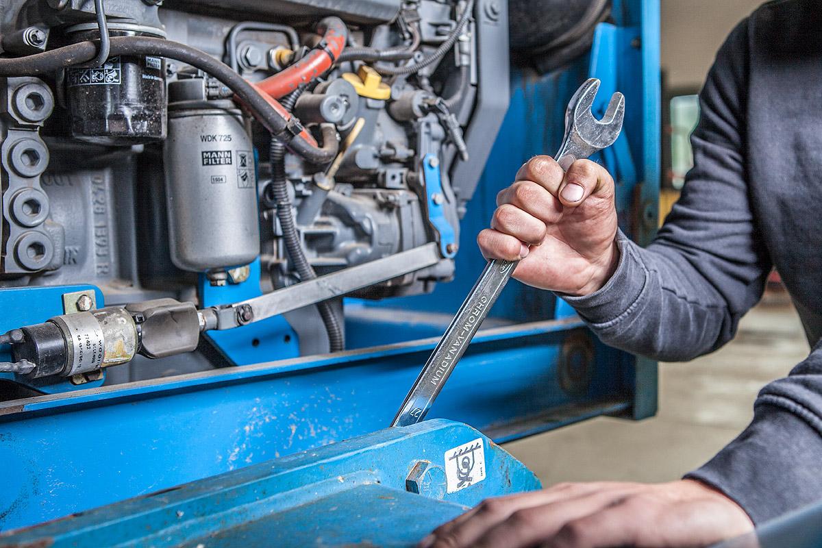 Reparatur von Arbeitsmaschinen